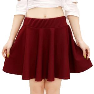 Falda Roja Con Vuelo