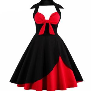 Vestido Talla Grande Rojo Y Negro