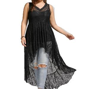 Vestido Transparente Tallas Grandes Rosegal