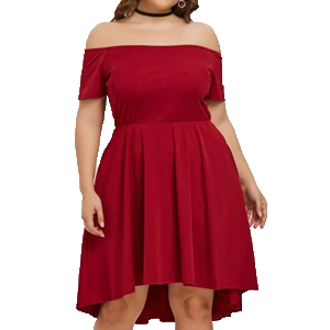 Vestido Rojo Fiesta Rosegal